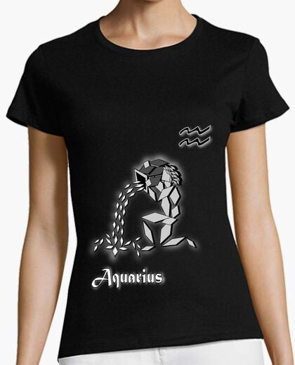 ffc2206d T shirt zodiac sign aquarius woman astrology t-shirt