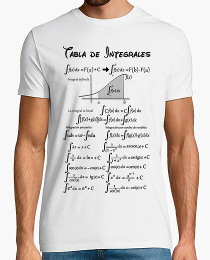 Camiseta Tabla de integrales