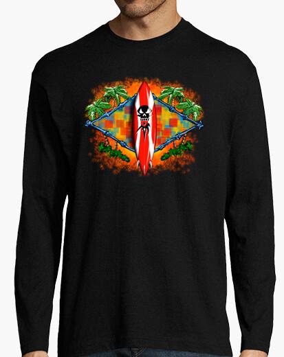 Camiseta Tabla surf calavera - nº 122075 - Camisetas latostadora 5eff3c2ef52