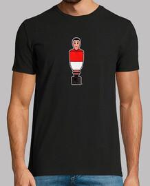 Table soccer rojo negro y blanco