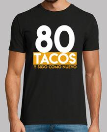 tacos de cadeau d'anniversaire 80