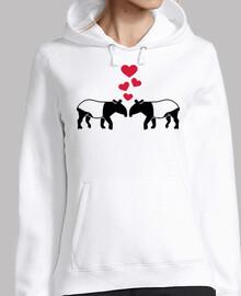 tapir corazones rojos amor