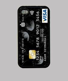 Tarjeta de crédito iphone 4-4s