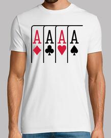 tarjetas del póker de ases