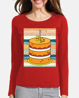 tarta de pastel retro