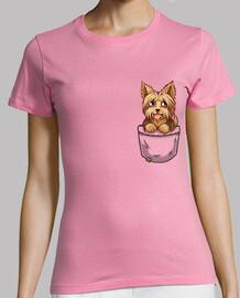 tasca carino yorkshire yorkshire cucciolo - camicia dei womans