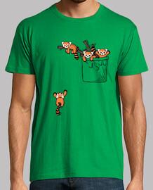 tasca orsi panda rossi