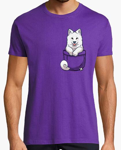T-shirt tasca samoyed - camicia da uomo