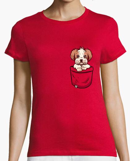 T-shirt tasca shih tzu - camicia da donna