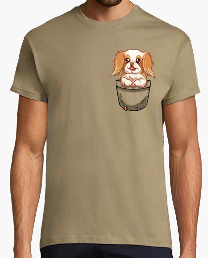 T shirt tascabile cane chin giapponese camicia da uomo