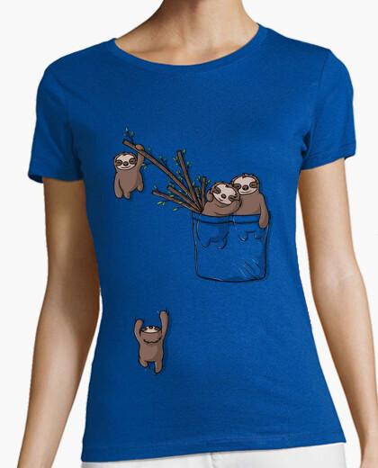 T-Shirt tasche faultier familie