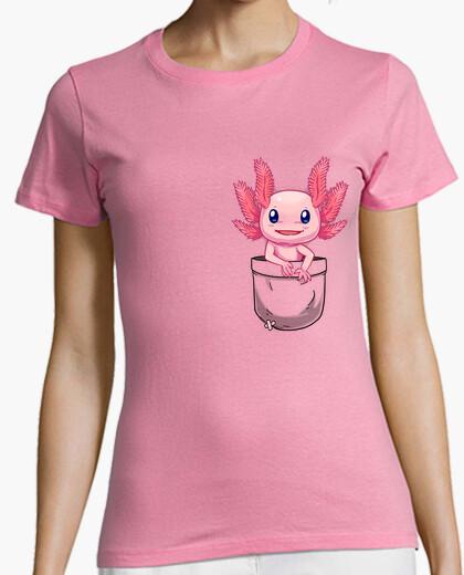 T-Shirt tasche niedlich axolotl salamander - womans shirt
