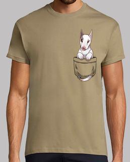 tasche niedlichen bullterrier hund - herrenhemd