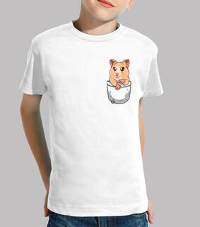 tasche niedlichen hamster haustier - kinder shirt