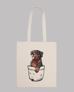 tasche niedlichen rottweiler hund - einkaufstasche