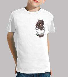 tasche niedlicher puli hund - kinderhemd
