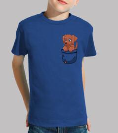 tasche süße schokolade labrador - kinder shirt