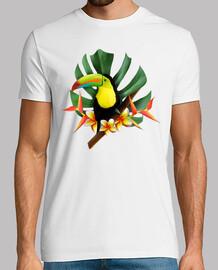 tasche tropische tukan latostadora.com - ein mann manga kurz, weiß, extra qualität