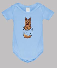 Taschen süßer deutscher Schäferhund