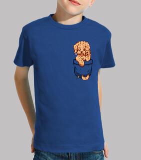 taschenlabradoodle welpe - kinderhemd