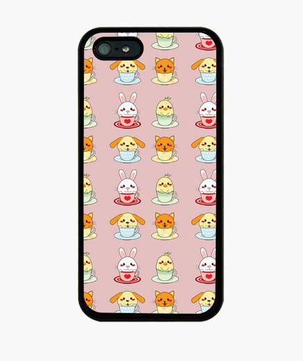 Coque iPhone tasses animaux