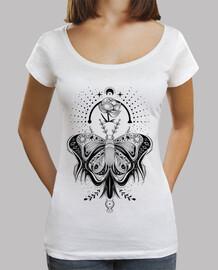 tatouage papillon tribal - tee lumière