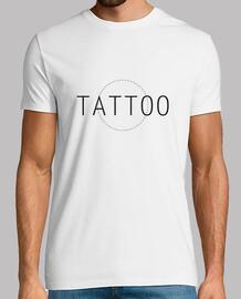 Tattoo, Tatuaje, Hombre, manga corta, blanco, calidad extra