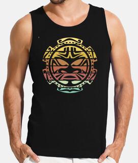 tatuaje de sol maorí