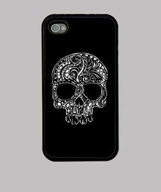 tatuaje tribal estilo gótico cráneo