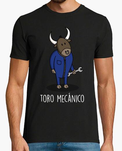 Tee-shirt taureau mécanique noir