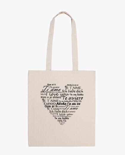Bolsa Te quiero en varios idiomas