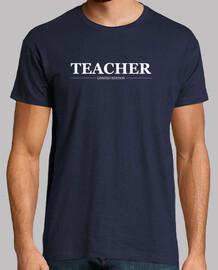 Teacher, hombre, logo blanco