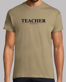 Teacher, hombre, logo negro