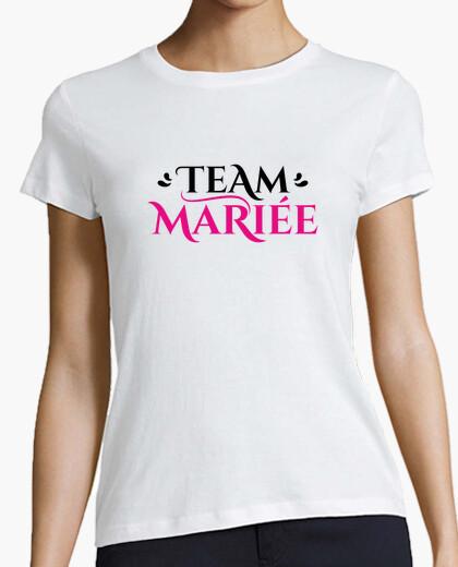 Tee-shirt Team mariée cadeau mariage evjf