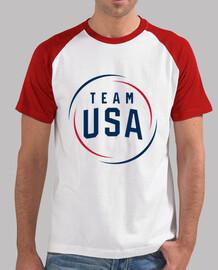 Team USA Hombre, estilo béisbol, blanca y roja
