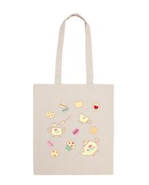 teatime bag cotton fabric 100