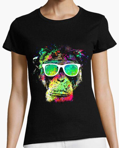 T-Shirt Technicolor Affe