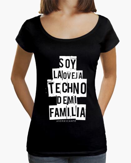 Tee-shirt techno  femme  de mouton noir