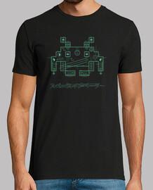 techno invader - t-shirt da uomo