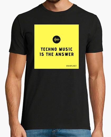 Camiseta Techno music, Techno music is the answer