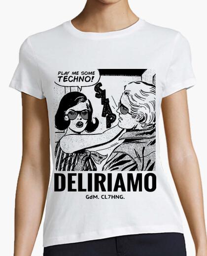 Techno pop art slap t-shirt