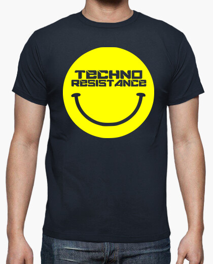 Techno resistance acid smile t-shirt