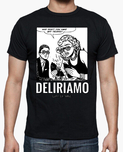 Techno vinyl comic we are raving t-shirt