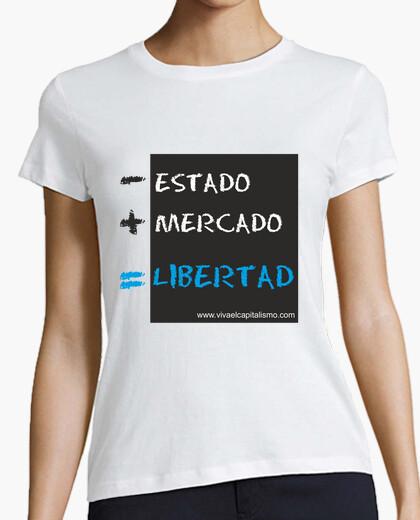 Tee-shirt - etat du marché = liberté  femme