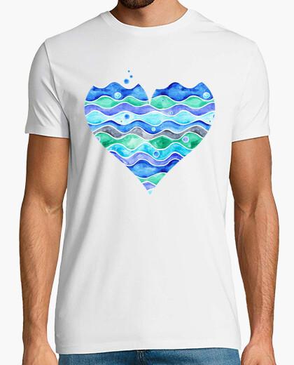 Tee-shirt 1. une mer d'amour (transparent)