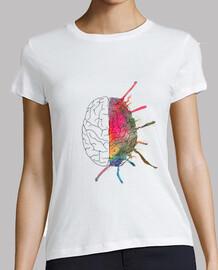 tee-shirt  femme  cerveau coloré