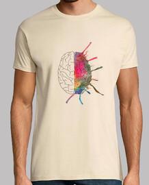tee-shirt  homme  cerveau coloré
