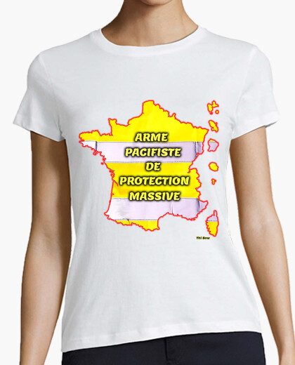 Tee-shirt Arme pacifiste de protection massive femme