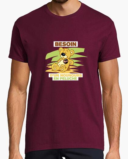 Tee-shirt Besoin d un nounours en peluche
