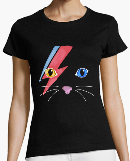Tee-shirt chat bowie